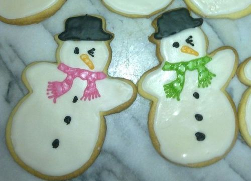 Snowman together