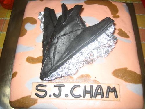 Stealth Bomber Cake