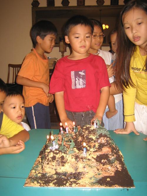 The birthday boy